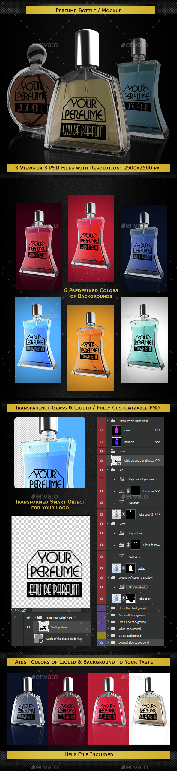 Perfume Bottles Mockup - Miscellaneous Product Mock-Ups