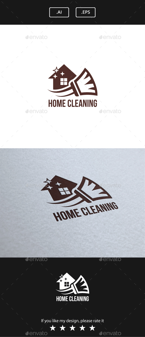 Home Cleaning - Buildings Logo Templates