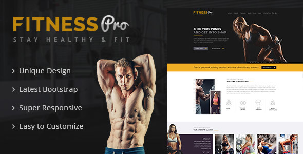 Fitness Pro – Gym Fitness HTML Template