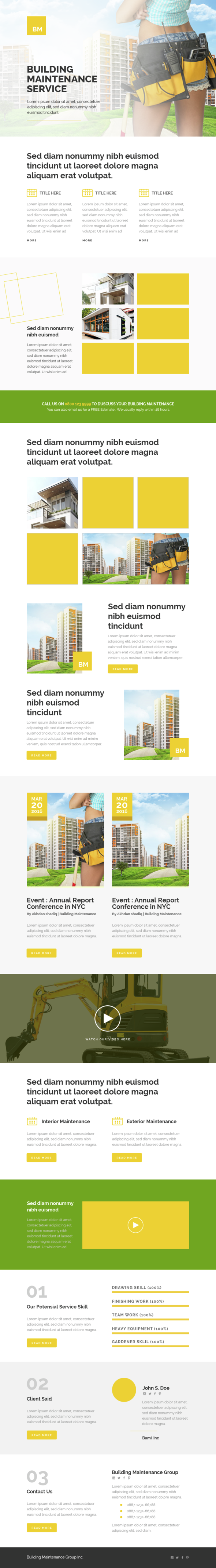 Corporate – Building Maintenance – Responsive Email Templates