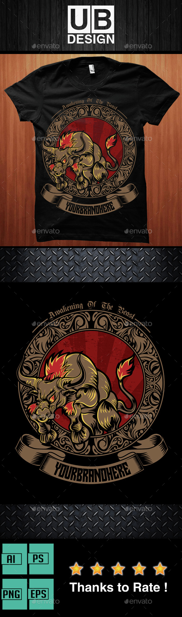 Awakening Of The Beast Illustration - Grunge Designs