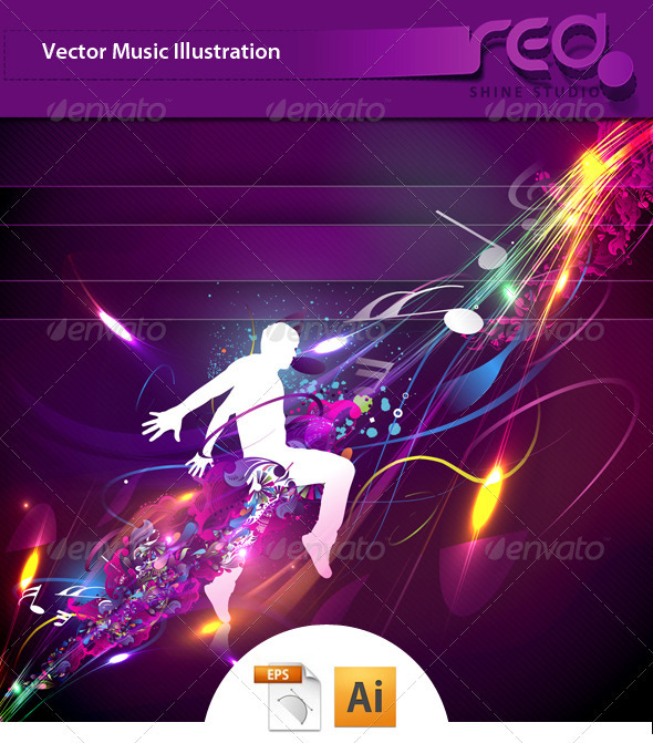 Dance Party Vector Template Design - Vectors