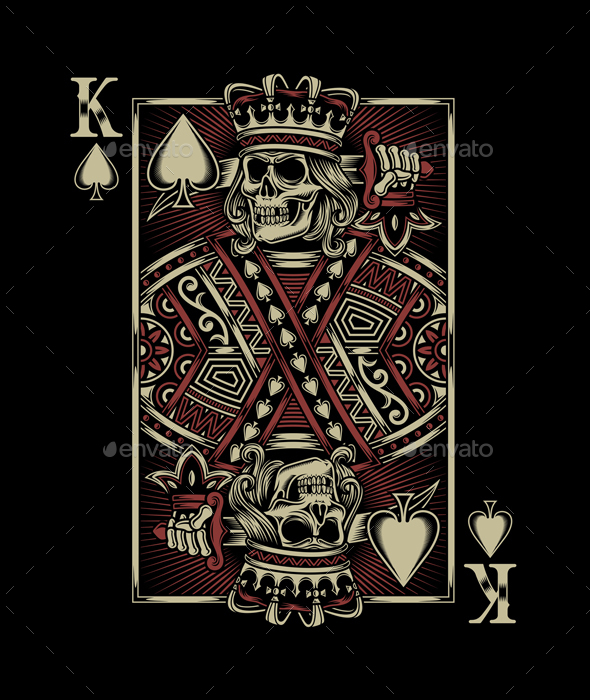 Skull Playing Card - Decorative Symbols Decorative