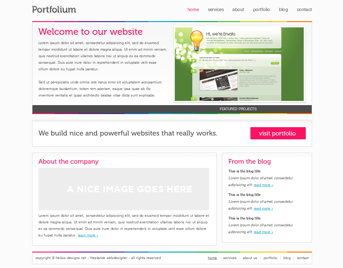 Free Download Portfolium - Full xHTML/CSS Template Nulled Latest Version