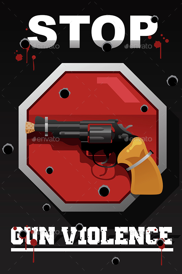 Stop Gun Violence Poster - Backgrounds Decorative