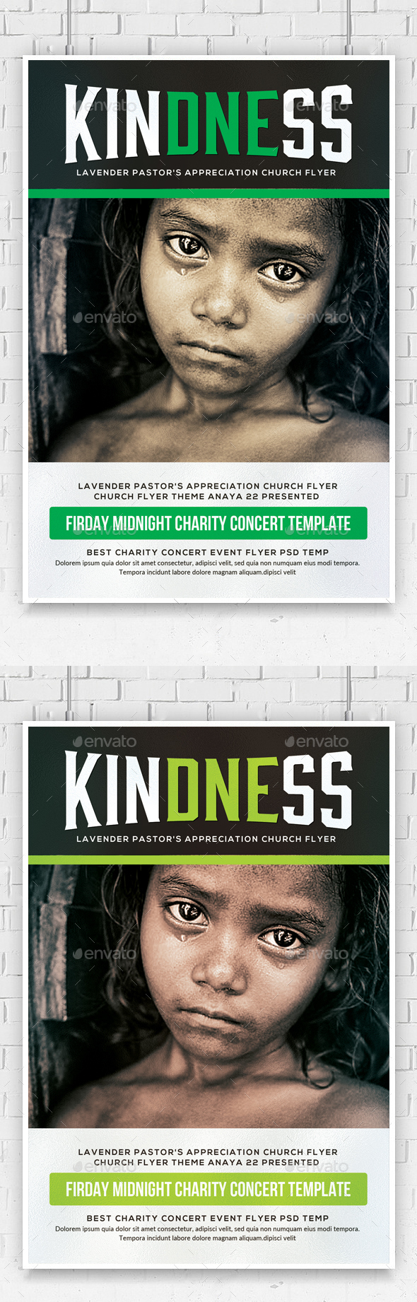 Help Charity Flyer Template  - Church Flyers