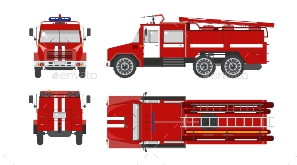 Fire Engine Car - Man-made Objects Objects