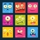 Cartoon Monster Faces Set - GraphicRiver Item for Sale