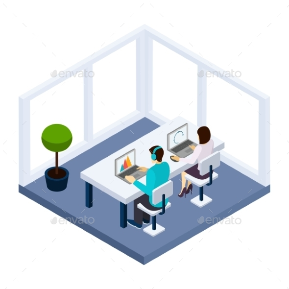 Coworking and Business Illustration  - Concepts Business