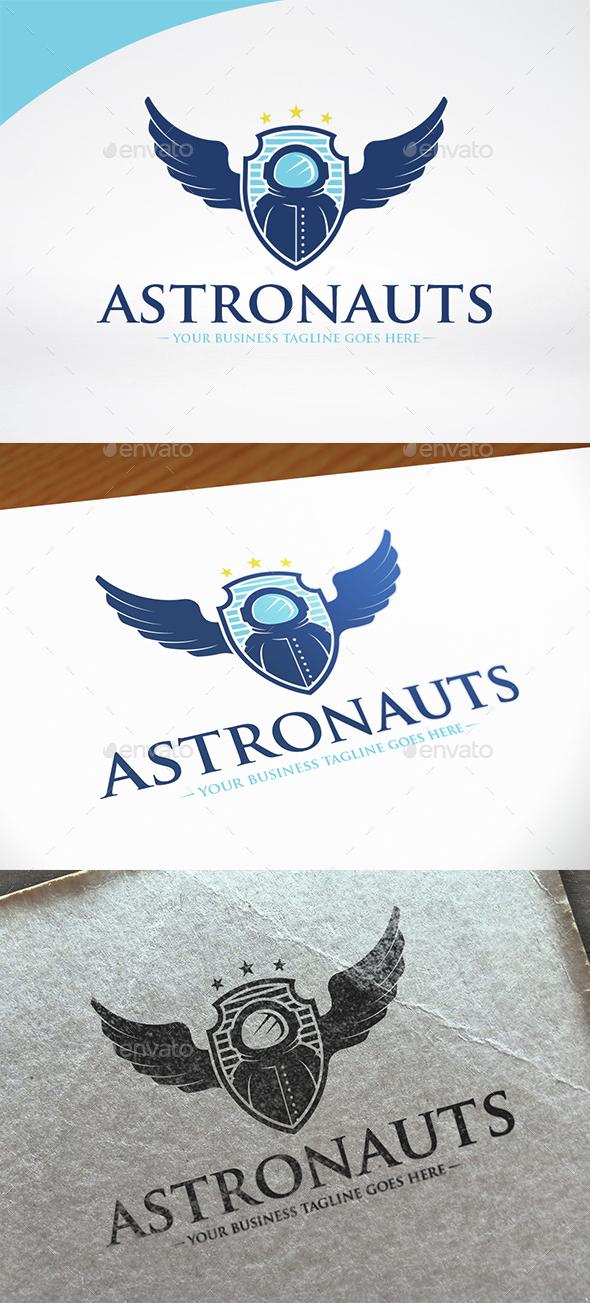 Astronaut Crest Logo Template - Humans Logo Templates