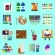 Painting Icons Flat Set of Graphic Arts - GraphicRiver Item for Sale