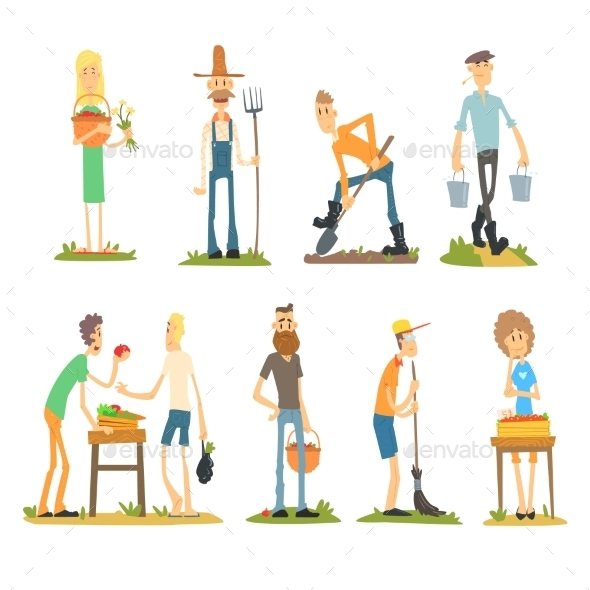 Summer Farm Activities - People Characters