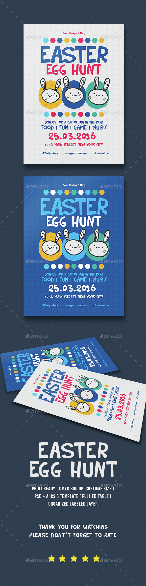 Easter Party - Events Flyers