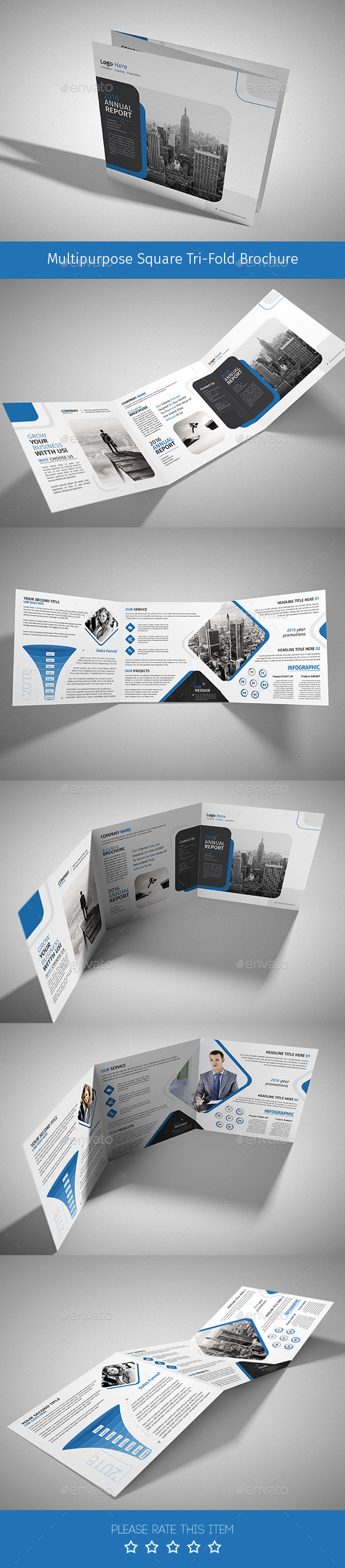 Corporate Tri-fold Square Brochure 10 - Corporate Brochures