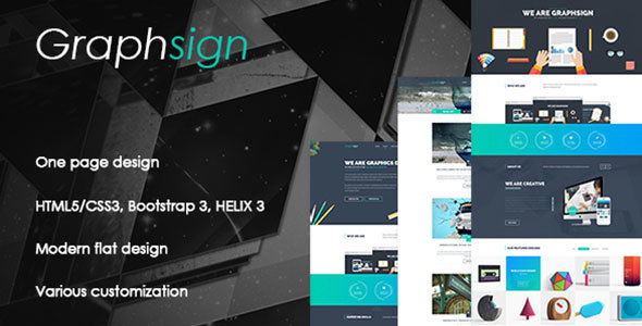 Graphsign – Onepage Corporate Business Joomla Template