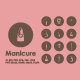 Manicure icons - GraphicRiver Item for Sale