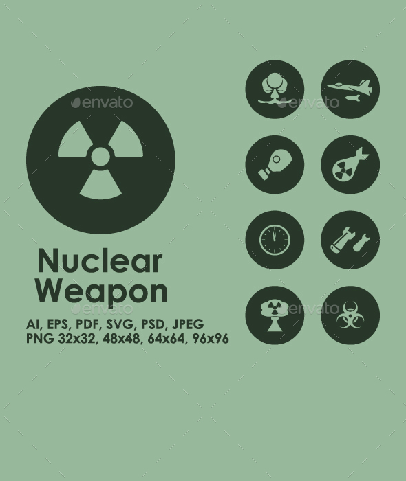 Nuclear Weapon icons - Objects Icons
