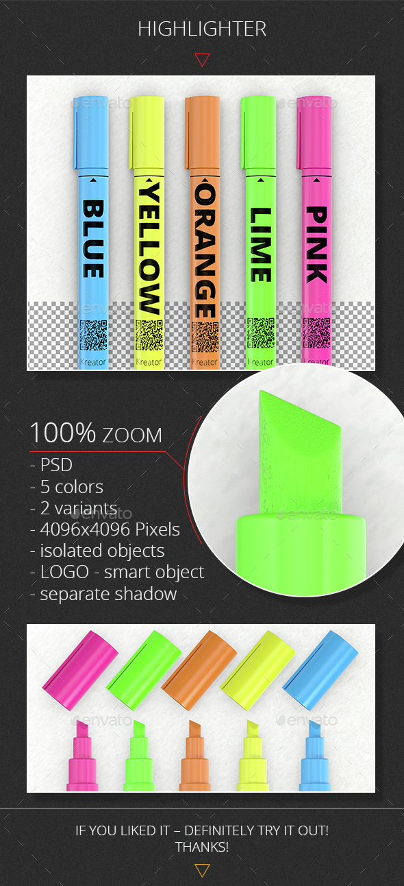 Highlighter - Objects 3D Renders