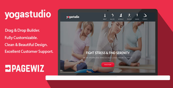 Image of Yoga Studio - Pagewiz Landing Page Template