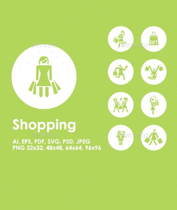 Shopping icons - People Characters