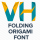 Animated Folding Origami Font - VideoHive Item for Sale