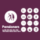 Pensioners icons - GraphicRiver Item for Sale