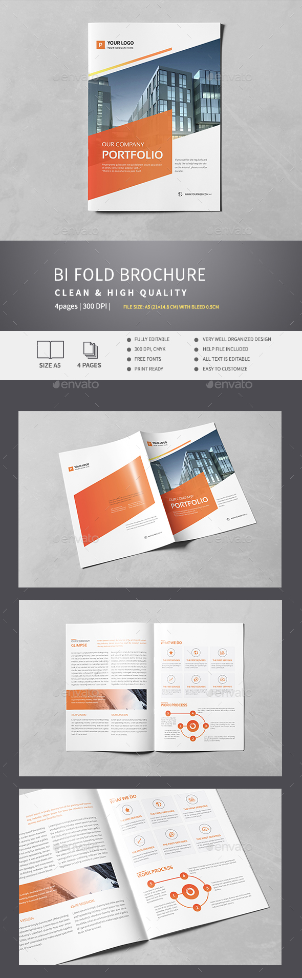 Corporate Bi-Fold Brochure v.1 - Corporate Brochures