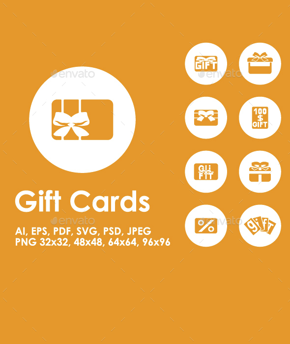 20 Gift Cards icons - Business Icons