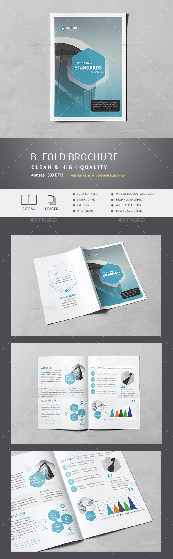 Corporate Bi-Fold Brochure v.4 - Corporate Brochures