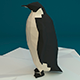 Low Poly Penguin on Ice