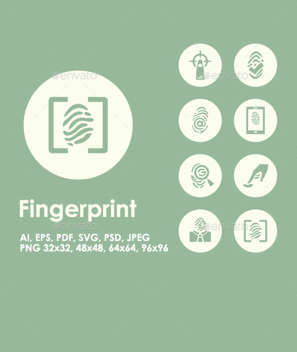 20 Fingerprint icons - Technology Icons