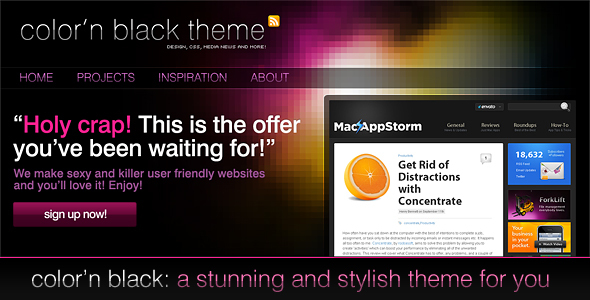 Color'n Black theme - Technology PSD Templates