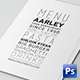 Simple Typography Menu Pack - GraphicRiver Item for Sale