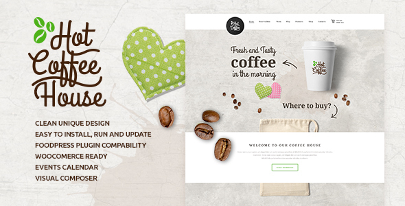 Hot Coffee | Cafe / Restaurant / Bar Theme