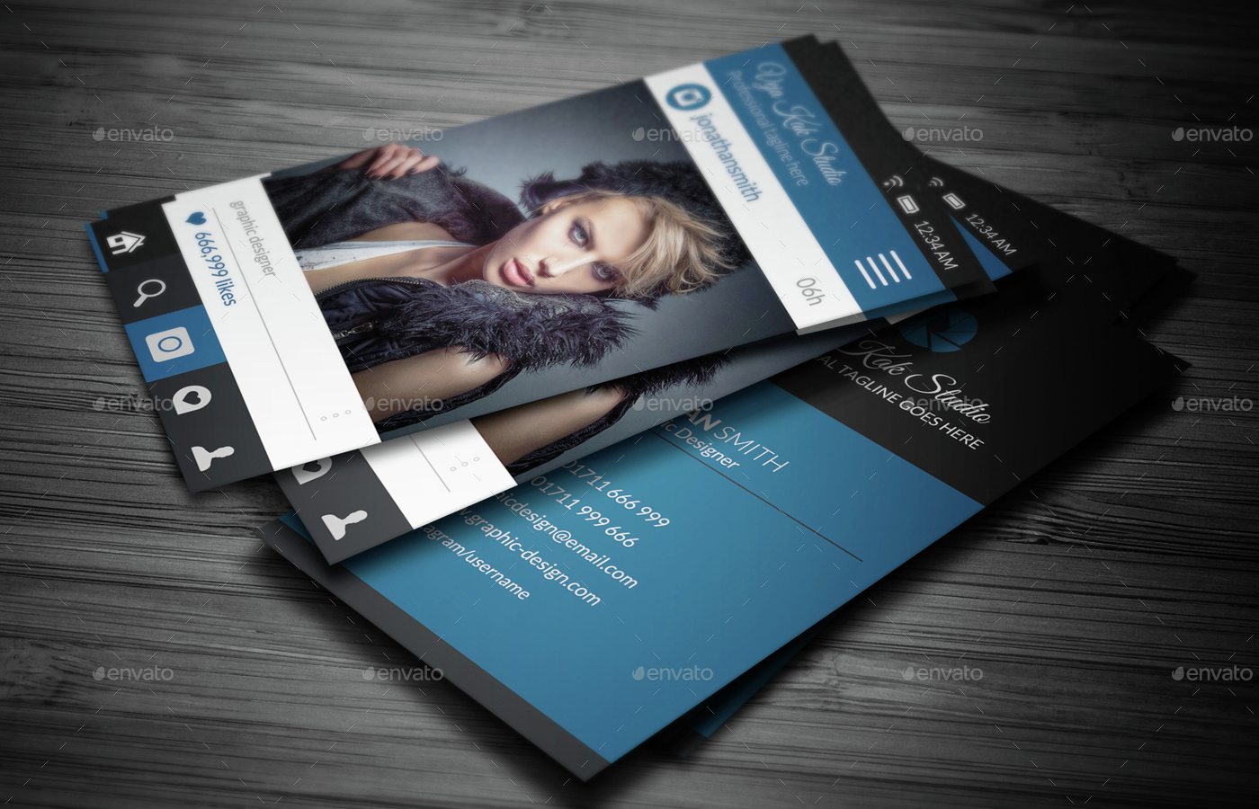 Social Media Style Photography Business Card by vejakakstudio ...