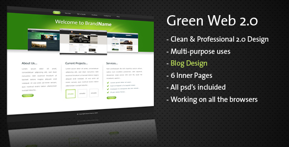 Clean & Professional – Green Web 2.0 –