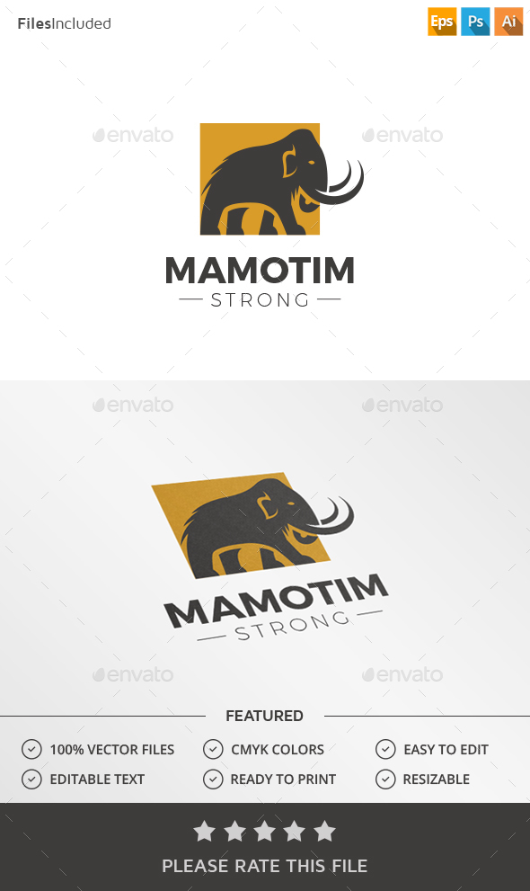 Mammoth Logo - Animals Logo Templates