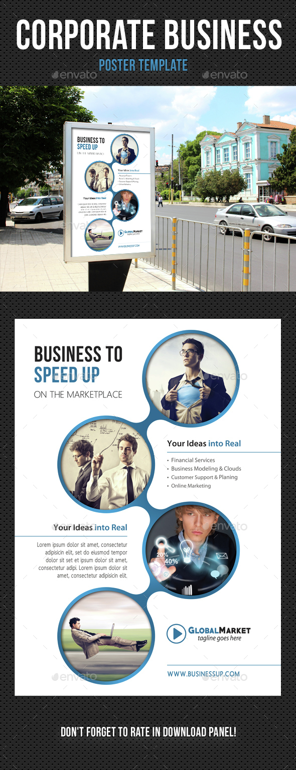 Corporate Business Poster Template V05 - Signage Print Templates