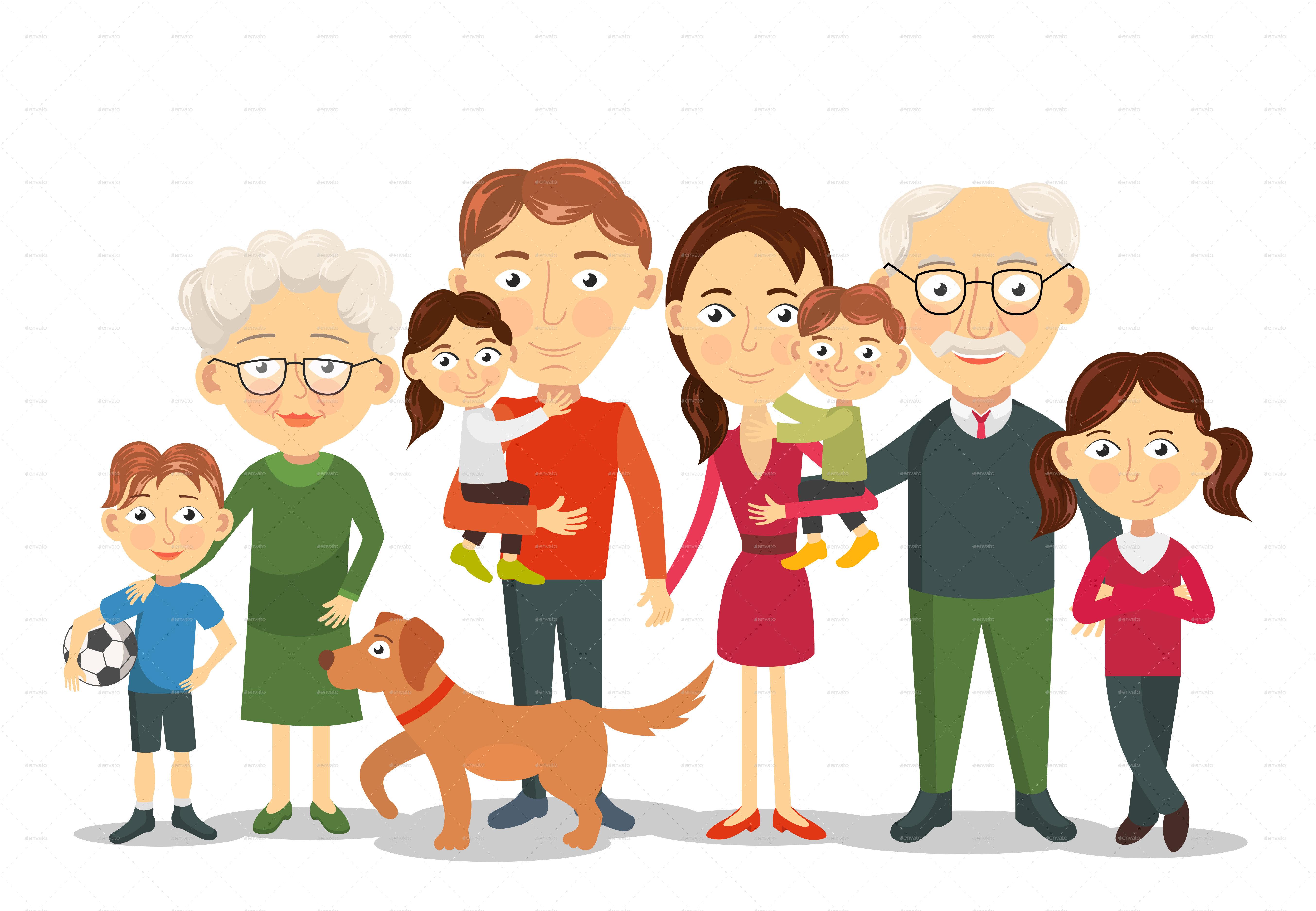 Big And Happy Family Portrait By Yayasya