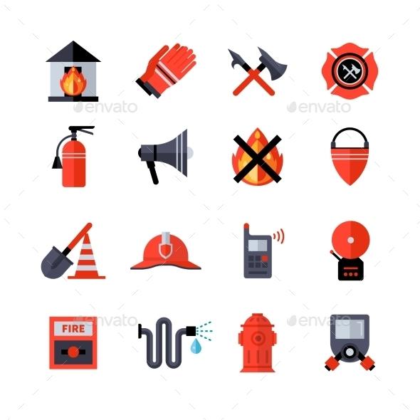 Fire Department Decorative Icons - Decorative Symbols Decorative