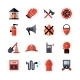 Fire Department Decorative Icons - GraphicRiver Item for Sale