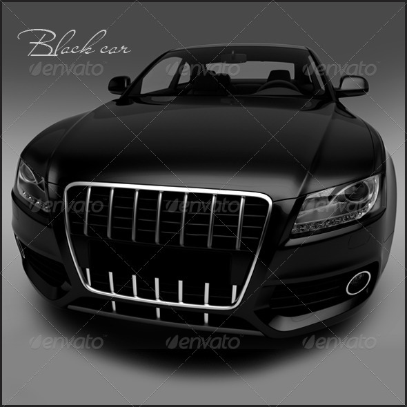 Black car - 3D Renders Graphics