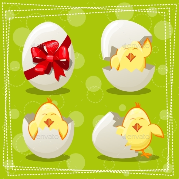 Easter Egg Chicks  - Animals Characters