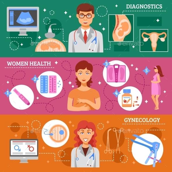Obstetrics Banner Set - Health/Medicine Conceptual