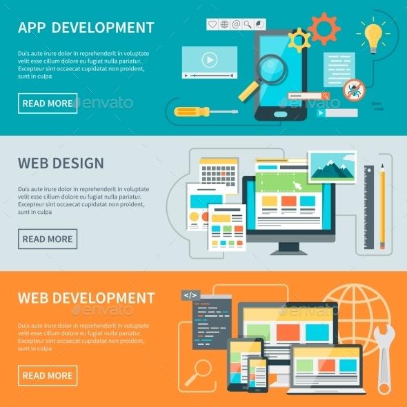 Website Development Banners - Web Technology