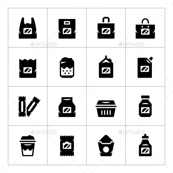Set Icons of Package - Man-made objects Objects