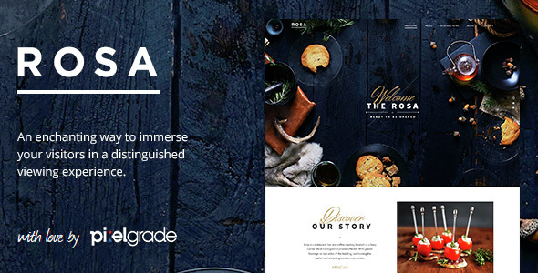 ROSA - An Exquisite Restaurant WordPress Theme - Restaurants & Cafes Entertainment