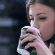Girl Drinking Coffee - VideoHive Item for Sale