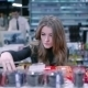 Beautiful Girl Selects Products In Supermarket - VideoHive Item for Sale
