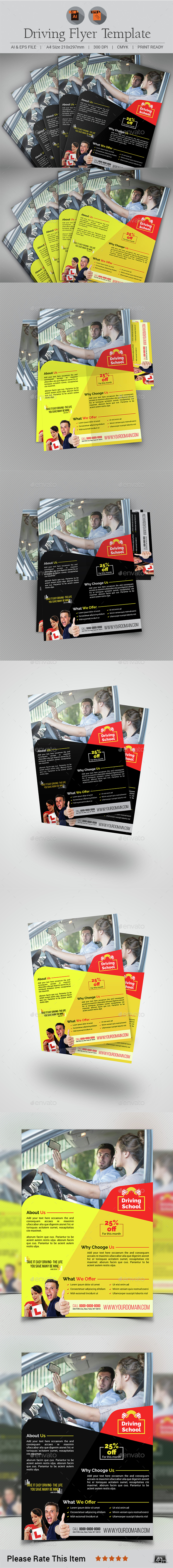 Driving Training Flyer template - Flyers Print Templates